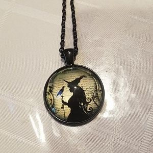 New halloween witch necklace